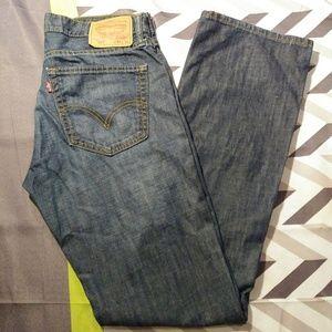 Levi's 527 Bootcut Size 32x34 Dark Blue Jeans!